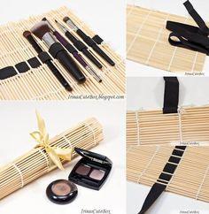 Mit diesem tollen DIY-Organizer finden alle deine Pinsel einen Platz! :) Einfach ein elastisches Gummiband mit Faden