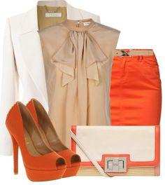 Orange. Creme.