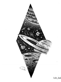 Discover recipes, home ideas, style inspiration and other ideas to try. Trippy Drawings, Space Drawings, Dark Art Drawings, Tattoo Design Drawings, Pencil Art Drawings, Art Drawings Sketches, Tattoo Sketches, Smal Tattoo, Planet Tattoos