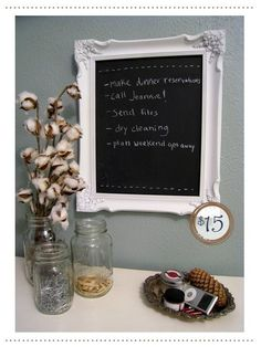 Framed black board