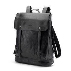 """CORLISS Casual Stylish Mens Womens Fuax Leather Backpack Satchel School Daypack Business Laptop Bag Enough Room for 14"""" Computer,A4 files,Ipad etc (Black) CORLISS http://www.amazon.co.uk/dp/B00X480PHI/ref=cm_sw_r_pi_dp_EHSYwb1YEF3SG"""