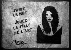 Miss-Tic : faire le mur jouer la fille de l'art