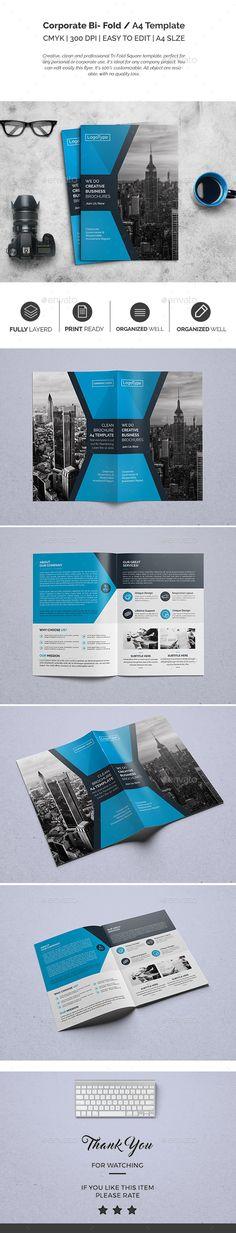 Corporate Bi-fold Brochure Template PSD. Download here: https://graphicriver.net/item/corporate-bifold-brochure-template-04/17071441?ref=ksioks