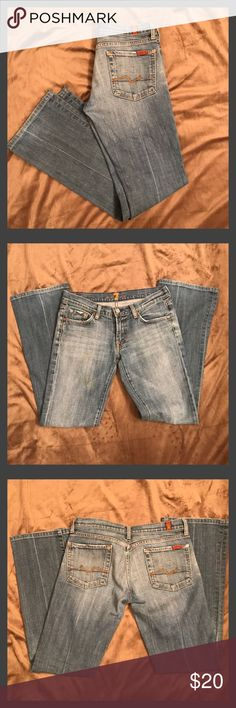 "7 for All Mankind Jeans They are in great condition; worn very few times.  They were professionally hemmed to a 31"" inseam.  Bootcut fit.  Size 27. 7 For All Mankind Jeans"