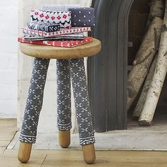 Sweater-Wrapped Stool