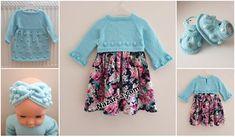 KOLAY ETAMİN ÖRNEKLERİ   Nazarca.com Baby Knitting Patterns, Crochet Patterns, Granny Square Crochet Pattern, Baby Dress, Crochet Baby, Summer Dresses, Fashion, Crochet Decoration, Baby Layette
