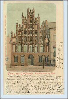 W7A86/ Greifswald Gruß aus Greifswald 1901 AK (b) | eBay