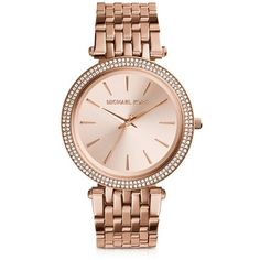 Michael Kors Designer Women's Watches Darci Stainless Steel Women's... ($250) ❤ liked on Polyvore featuring jewelry, watches, rose gold, women's watches, michael kors, water resistant watches, stainless steel wrist watch, round watches and michael kors jewelry