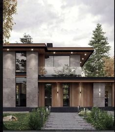 Best Modern House Design, Modern Villa Design, Modern Exterior House Designs, House Front Design, Bungalow House Design, Dream House Exterior, Modern Contemporary House, Exterior Design, Exterior Colors