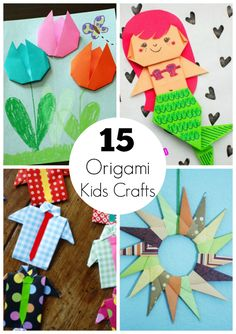 We're making all sorts of origami paper crafts that kids can create for a fun toy or special display! Here are 15 different kids crafts to make today!