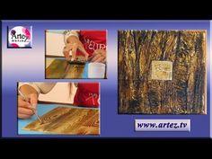 Cómo imitar una corteza de árbol Decoupage, Mixed Media, Youtube, Make It Yourself, How To Make, Painting, Artworks, Country, Diy