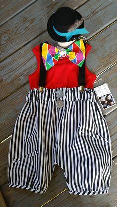 Chicos circo traje traje del payaso bebé 4 piezas niños