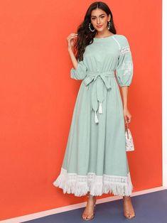 Modest Dresses, Stylish Dresses, Simple Dresses, Cute Dresses, Casual Dresses, Muslim Fashion, Modest Fashion, Hijab Fashion, Fashion Dresses
