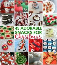 45 Totally Adorable Christmas Snacks  Craft In Your Day