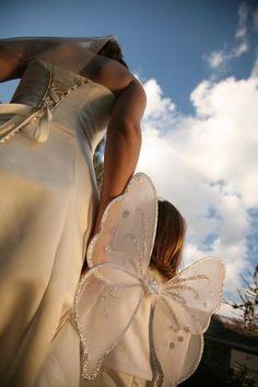 Angel baby Wedding Dress Veil