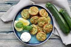 http://www.thepetitecook.com/healthy-baked-zucchini-fritters/  Baked Zucchini Fritters - Healthy, vegetarian, gluten-free and dairy-free - They're so tasty and versatile, you can serve them for breakfast, lunch AND dinner! Recipe from thepetitecook.com