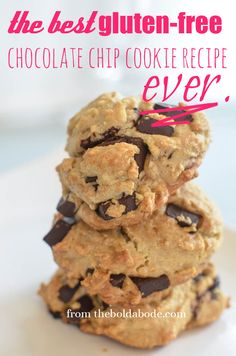 The BEST Gluten Free Chocolate Chip Cookies Recipe EVER. Seriously.