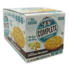 LENNY and LARRY'S ALL-NATURAL COMPLETE COOKIE 12 PACK - White Chocolate Macadamia, $24.99
