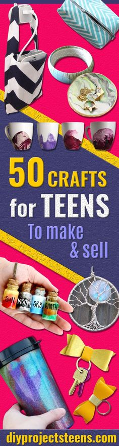 Cool Crafts for Teens to Make and Sell - Creative DIY Projects to Make and Sell… - Diy For Teens Diy Projects To Make And Sell, Crafts For Teens To Make, Sell Diy, Diy Projects For Teens, Diy For Teens, Sewing Projects, Project Ideas, Kids Diy, Sewing Ideas