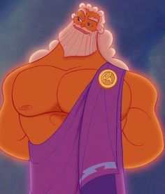 Zeus is the King of the Olympian Gods and the father of the legendary hero Hercules. He first appeared in the Disney's 1997 feature film Hercules. Zeus is the son of the Titan King Cronos. Based on an offhand remark by Zeus, Cronos feared Zeus might one day overthrow him so he tried to eat him. Following mythology, his mother hid him away until Zeus was old enough to challenge his father and banish him.