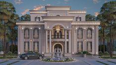 Classic House Exterior, Modern Exterior House Designs, Classic House Design, Modern Farmhouse Exterior, Dream House Exterior, Exterior Design, Luxury Homes Exterior, House Arch Design, House Outside Design