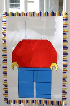 Photo Op - mount on cardboard, cut out blank face, have kids stand behind and they are a lego person :D