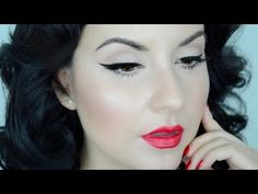 PinUp Cat Eye Makeup Tutorial For Beginners