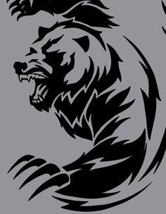 tribal bear | TRIBAL VECTOR ANIMALS CLIP ART