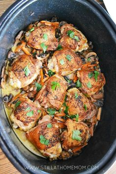 Mushroom Wine Chicken