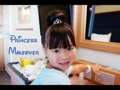 How To: DIY Disney Princess Makeover Tutorial For Short Hair Girl in Bibbidi Bobbidi Boutique Style