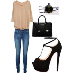 A fashion look from January 2015 featuring MANGO t-shirts, Vero Moda jeans and Talitha pumps. Browse and shop related looks.