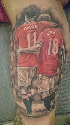 Tattoo manchester united giggs scholes bashar diab lebanon