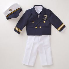 Captain's Jacket 4pc Nautical Suit - Anchors Away: Apparel - Events
