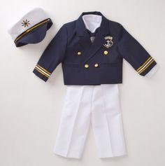 Captain's Jacket 4pc Nautical Suit - Ahoy Matey: Baby Sets Sail - Events