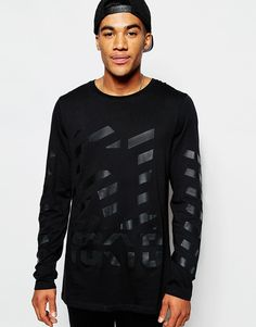 ASOS+Longline+Long+Sleeve+T-Shirt+With+Tokyo+Print+Back+Zip