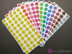 600 Klebepunkte 12 Farben von La Botones auf DaWanda.com