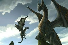 45 Epic Dragon Art Pictures - Baby Dragon with Mummy Dragon?  In any case, both Western Dragons.