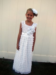 How to make this beautiful ruffle baptism dress - from A girl and a glue gun