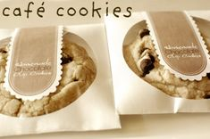 Chocolate chip cookies in a cd sleeve.