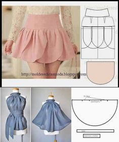 I sew myself - I wear it myself- Сама шью – сама ношу For our needlewomen. Skirt-bud and blouse Baby Dress Patterns, Skirt Patterns Sewing, Clothing Patterns, Coat Patterns, Blouse Patterns, Girls Frock Design, Baby Dress Design, Fashion Sewing, Diy Fashion