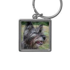 Cairn Terrier dog keychain, gift idea
