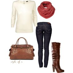 casual brown, created by styleofe on Polyvore