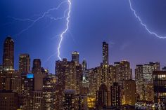 """Cool storm over chicago! #Chicago #lightning #storm #weather"" via  @SecondCityPics"