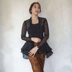 New Party Nigth Fashion Models Ideas Kebaya Peplum, Kebaya Lace, Batik Kebaya, Batik Dress, Lace Saree, Kebaya Muslim, Kebaya Hijab, Model Kebaya Brokat Modern, Kebaya Modern Hijab