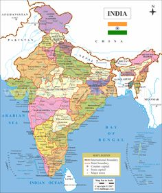 India Map Outline Colour Map Of India With States In 2019