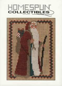 Homespun Collectibles Counted Cross Stitch Santa by straphaelwomen, $2.00