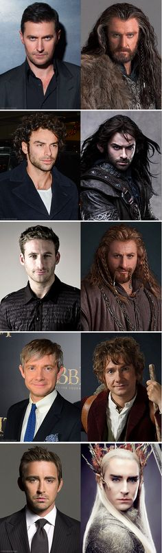 The fabulous cast of the Hobbit, minus the fabulous Middle-Earthen hair.