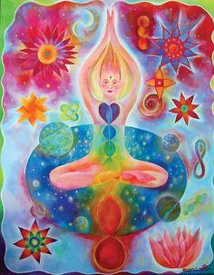 Bhuta Shuddhi is an ancient yoga meditation for chakras and a Tantra practice that balances or purifies (shuddhi) the element of fire (bhutas). 7 Chakras, Yoga Studio Design, Arte Chakra, Hata Yoga, Yoga Inspiration, Wheel Of Life, Yoga Art, Sanskrit, Tantra