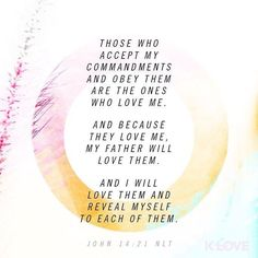 ENCOURAGING WORD via @kloveradio  He who has My commandments and keeps them it is he who loves Me. And he who loves Me will be loved by My Father and I will love him and manifest Myself to him. John 14:21 NKJV  http://ift.tt/1H6hyQe  Facebook/smpsocialmediamarketing  Twitter @smpsocialmedia  #Bible #Quote #Inspiration #Hope #Faith #FollowMe #Follow #Tulsa #Twitter #VOTD