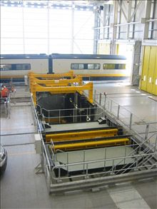 Eurostar Depot (Temple Mills-London). Bogie drop system
